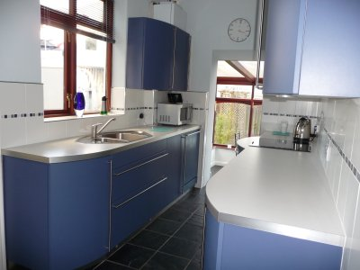 Kitchen with slate floor