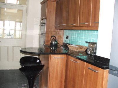 Kitchen with granite floor